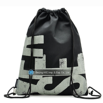 Nylon Waterproof Polyester Fabric Drawstring Gym Bag