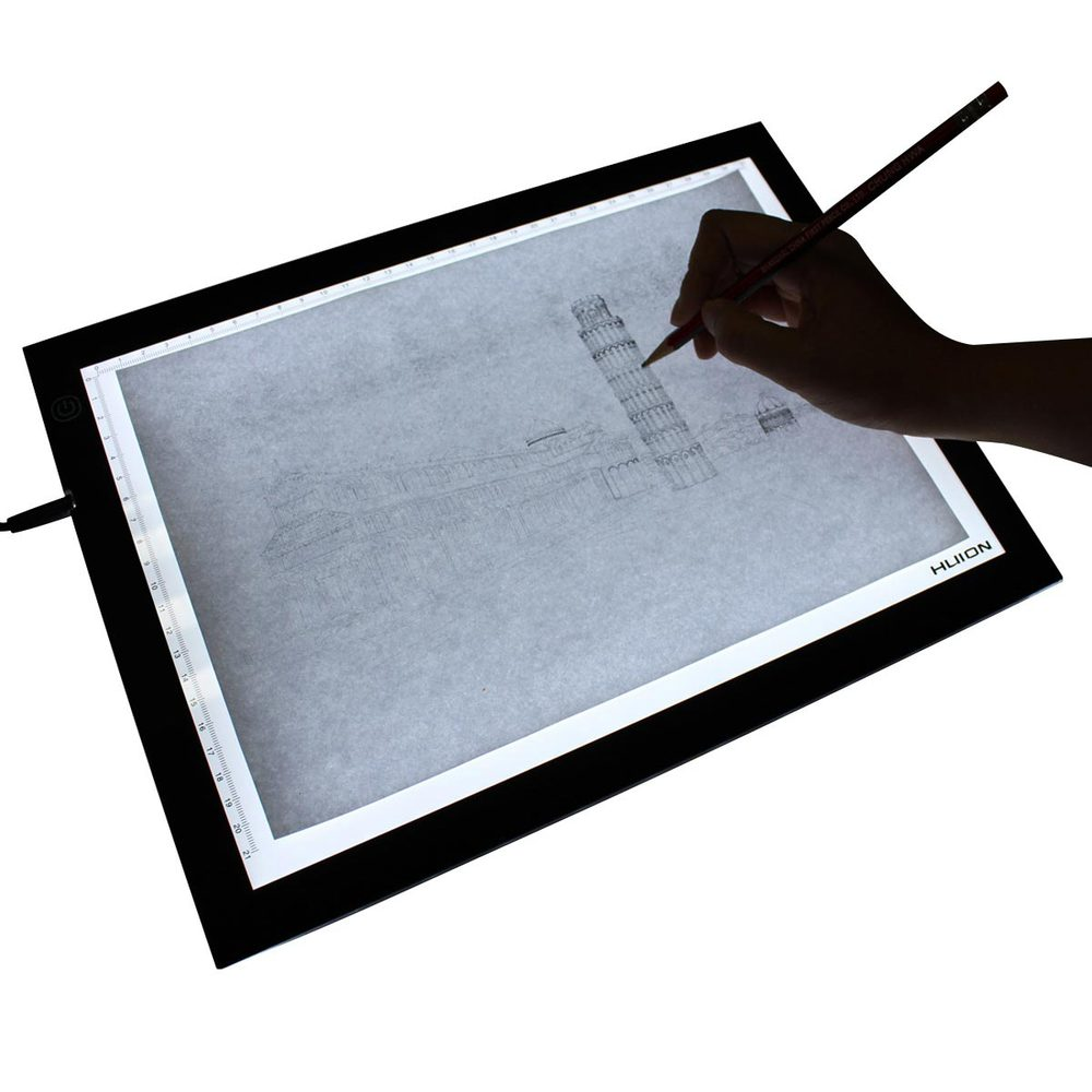new huion a3 led light box ultra thin translucent drawing. Black Bedroom Furniture Sets. Home Design Ideas