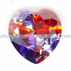 Heart Shape CZ with Multi-color Gemstones