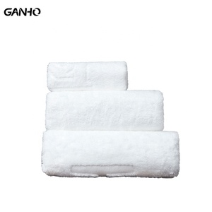 100% cotton customized/cheap satin/plain hotel square/hand/beach/foot/bath towel set with embroidery/logo