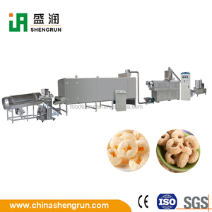 Extruded Puffed Corn Cereal Food Bar Extruder Machine