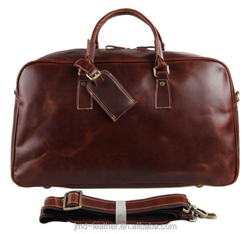 Wholesale 7156LB Genuine Cow Leather Unisex Red Wine Huge Luggage ...