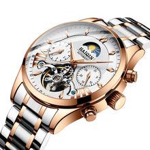 Роскошные автоматические механические мужские часы HAIQIN, Классические деловые часы, мужские водонепроницаемые наручные часы с турбийоном, ...(Китай)