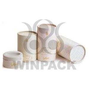 Cylinder Cardboard Paper Jar for Cosmetic / Tea / Food / Perfume Bottle