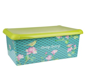 High quality 100% recycled plastic storage box with film