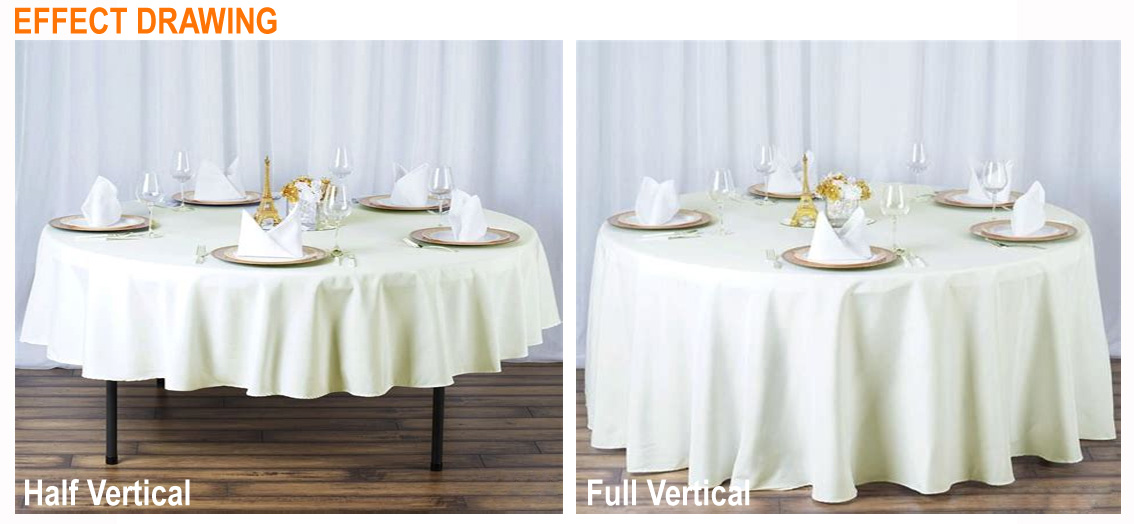 Plain Weave Event Tablecloth Folding Table Cloth Covers Sashes