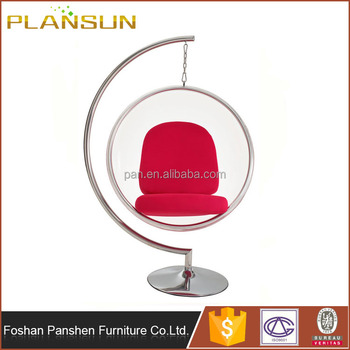 Modern Contemporary Stylish Design Clear Hanging Swing Bubble Ball Chair  With Stand