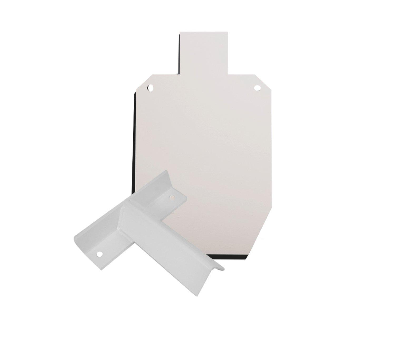 RMP Silhouette &T Post Bracket Target Kit - 1 15-1/8 X 9-1/4 Small White Silhouette, 1 Slip Fit T Post Target Bracket, 2 3/8-16 Hexhead Bolts, 2 3/8 Hex Nuts