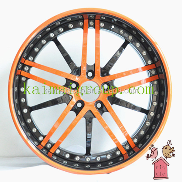 High quality 3-piece style forged alloy wheel rims with beautiful colors KM007