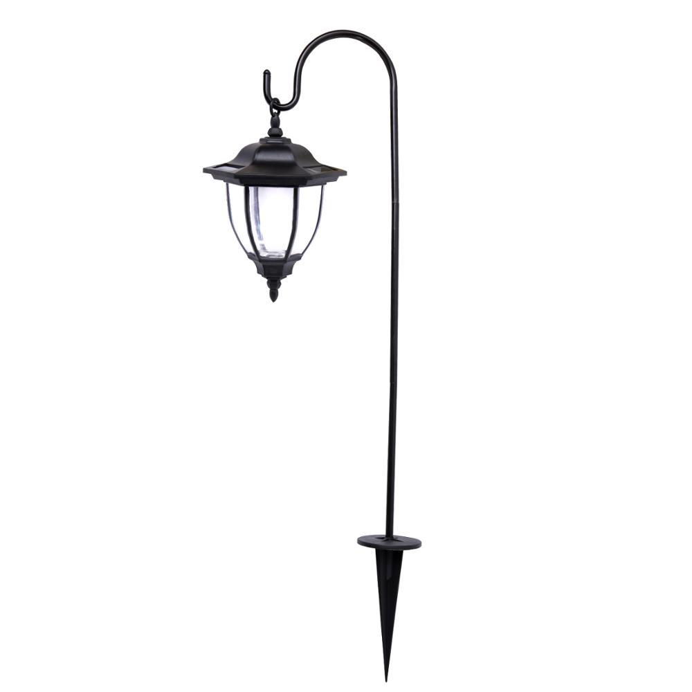 Hexagonal Lantern XLTD-249A Dual Use Shepherd Hook Coah Type Brighter Outdoor Solar Garden Hanging Lantern Lights
