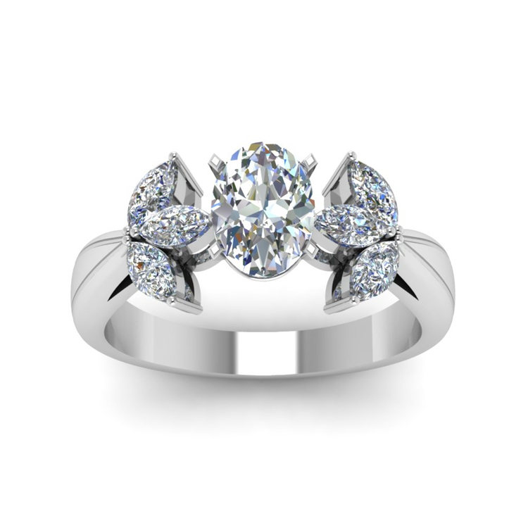 oval shaped floral marquise accents engagement italian ring designs
