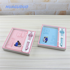 Malaysia best selling children student stationery gift set kids cute notepad wholesale journal printed notebook pen set