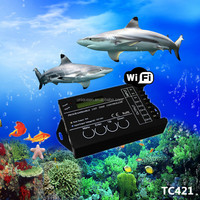 Latest Developed Updated TC420 WiFi Controller Programmable TC421 Wireless Control LED WiFi Time Controller With 5 Channels