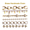 Brass handmade jewelry chains catalog 10 - many styles copper brass handmade chain for bracelet necklace jewelry DIY making