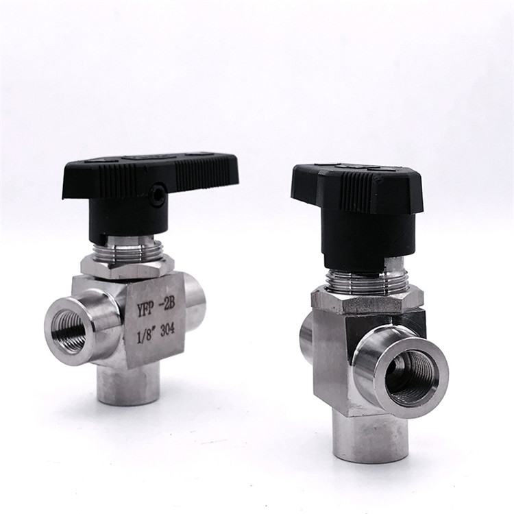 Cheap High quality internal thread T type panel ball valve stainless steel high pressure 3 way diverter flow control valve