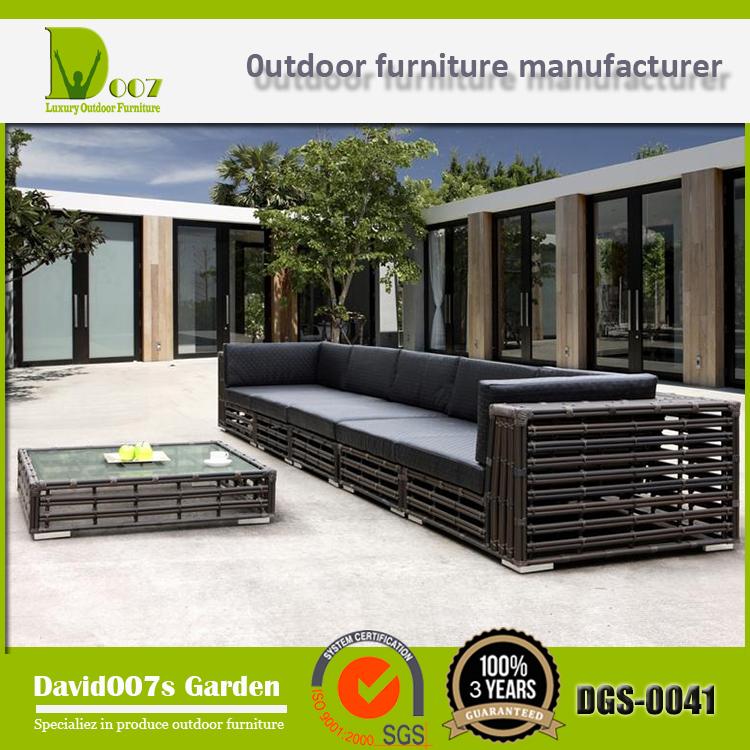 Dgs 0041 muebles de rat n jard n jard n al aire libre sof for Sofa exterior esquina