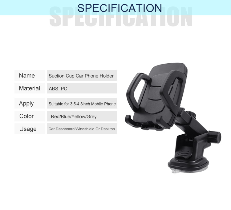 035f091d7870e1 New Products 2018 Gripper Car Mount Glue Mount Extendable Arm Double Suction  Cup Phone Holder