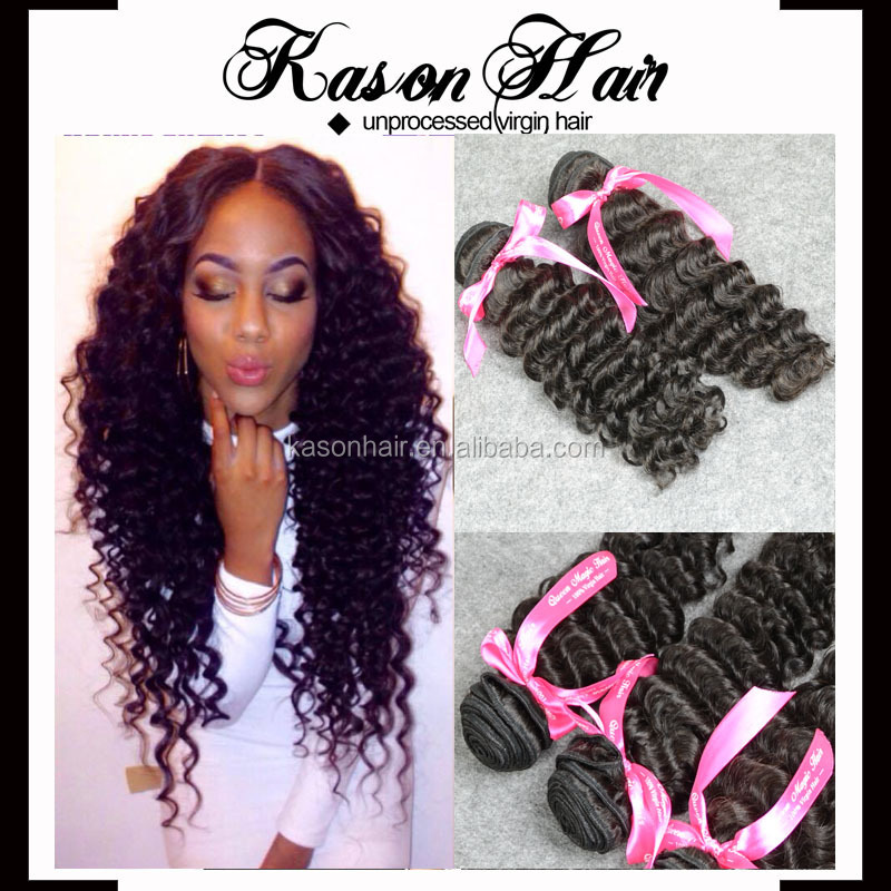 Overweight Shipping Kason Hair Products 7A Top Brazilian Deep Wave Hair Cheap Brazilian Hair Bundles Natural Black Color