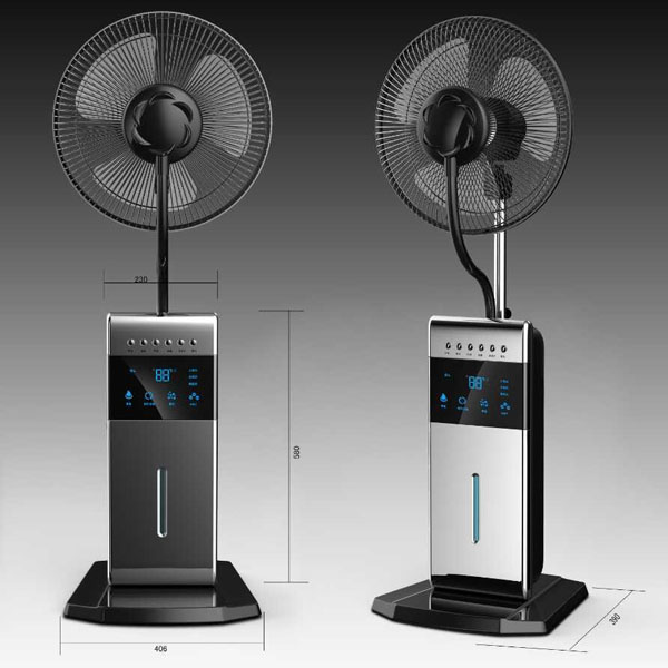 Spray Mist Fan : Summer cooling you water mist charger fan air circulation
