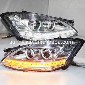 For Mercedes-Benz S class W221 S350 S500 S600 LED Head Light 2006-2008 Year Chrome Housing LF