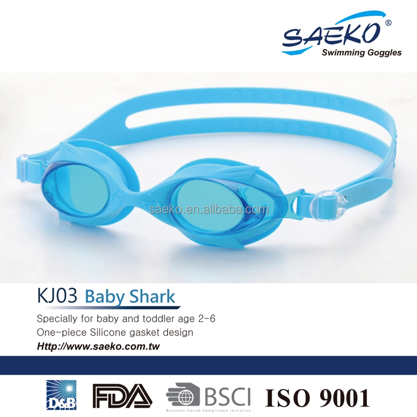 Baby Shark - Non-toxic Gasket Seal Waterproof Junior Children Kids Swimming Goggles