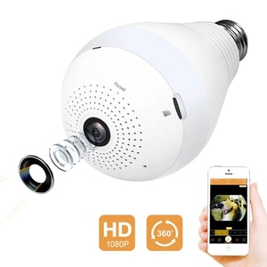 Fisheye 360 Degree HD Wireless WIFI IP Hidden Panoramic Camera Spy Cam 960P Light Bulb Lamp Indoor Home Security Surveillance