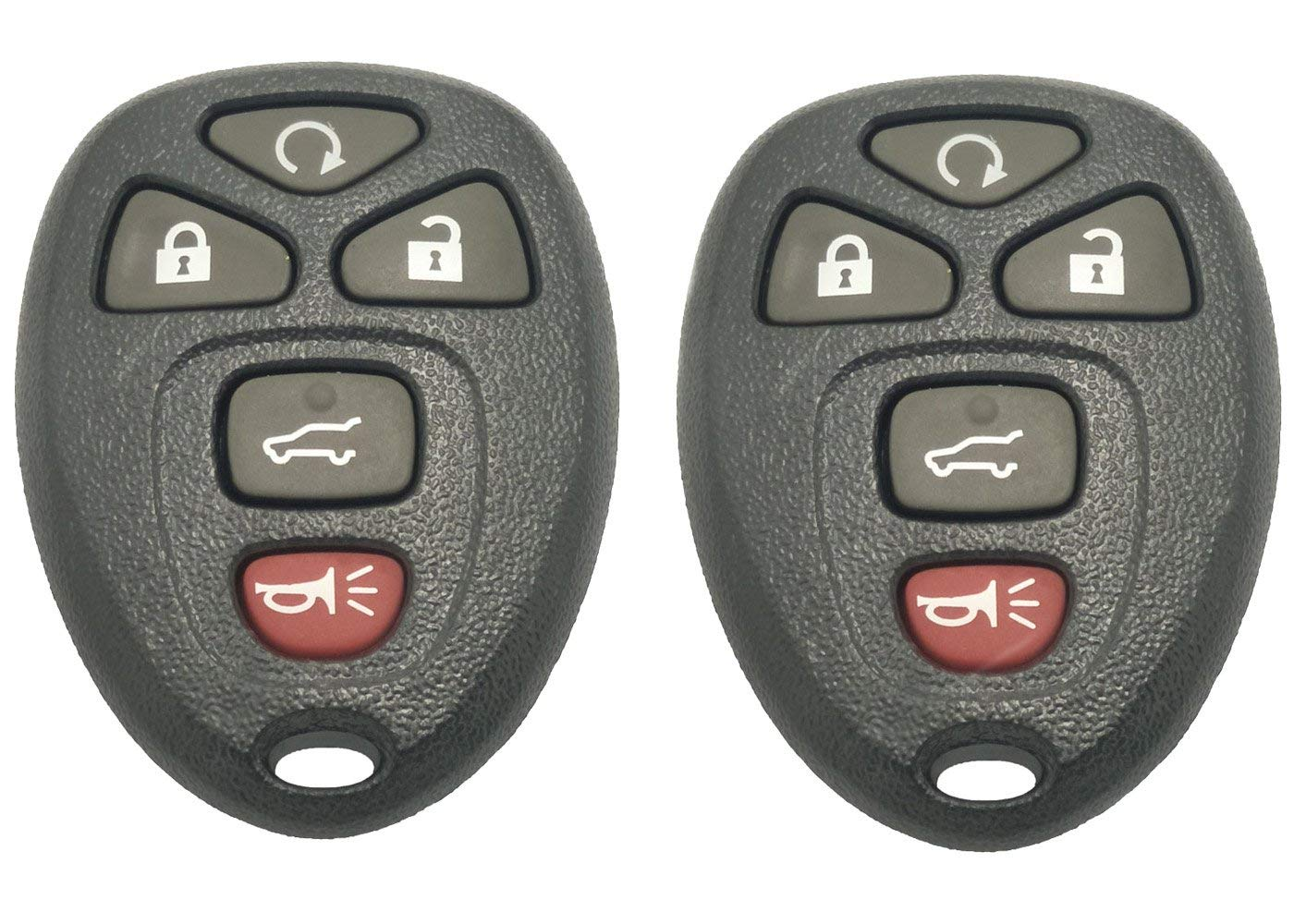 Replacement Key Fob Case Shell for Chevrolet Colorado GM GMC Canyon Isuzu Hummer 3 Buttons Keyless Entry Remote Car Key Casing with Button Pad Black