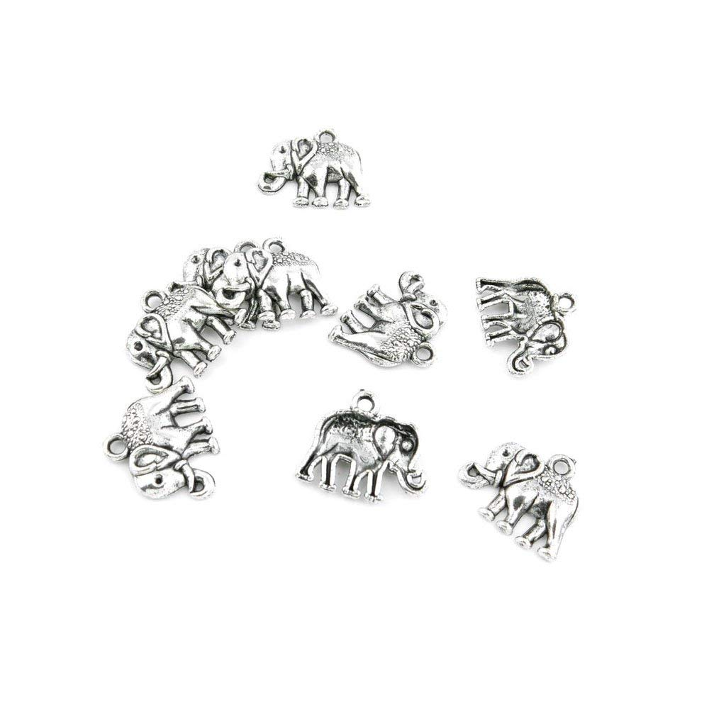 110 Pieces Jewelry Making Charms Retro Silver Tone for Necklace Pendant Bracelet Findings Vintage Bijoux Breloques Bulk 42018 Thai Elephant