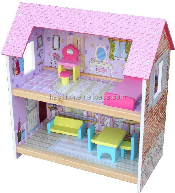 Fashion And Attractive Wooden Princess Children 3 Y Doll House For Toy Kids