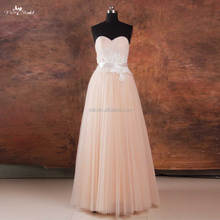 RSW738 Floor Length Cheap Pink Blush Beach Wedding Dress