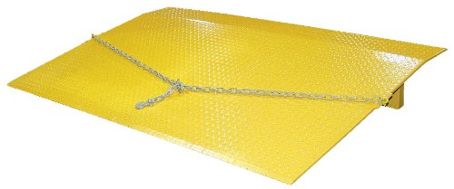 "Vestil SEH-4830 Steel Truck Dock Plate, 8,800-lb. Capacity, 30"" Length x 48"" Width x 1/2"" Thick"