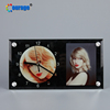 Courage factory directly blank sublimation glass photo frame with clock(BL-11)