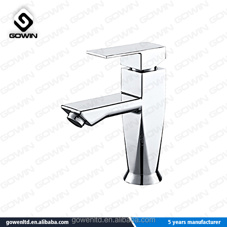 Single Lever Double Holes Valves Deck Mounted Lavatory Faucet Types with Fast Open Ceramic Cartridge