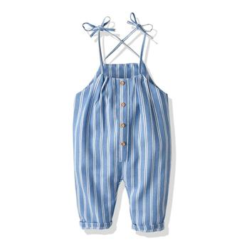 Summer Cotton Linen Baby Boys Girls Sleeveless Romper Overalls Clothes Suspender Overalls For Kids