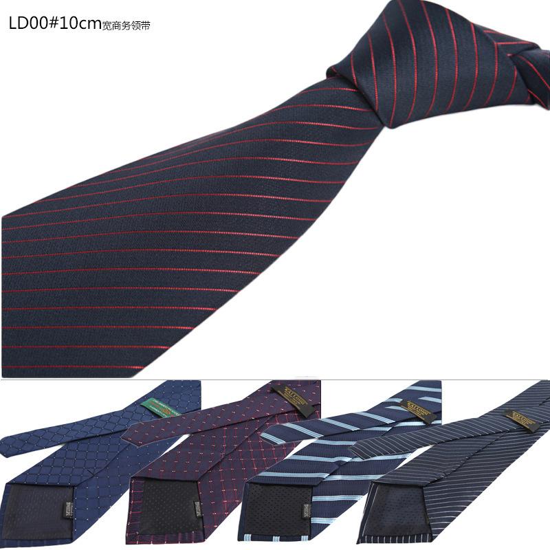 6cbfb671586 CON54 Red Gray Blue Orange Geometric Dot Stripe Classic Silk Woven Neck Tie  Men Business Casual