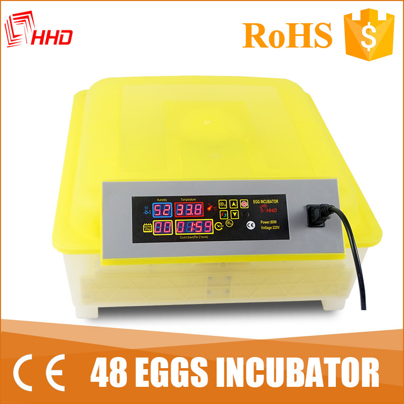 Cheap egg-turning 48 eggs mini egg incubator for bird/chicken/duck/goose/turkey for sale