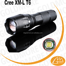Aluminum Strong bright T6 led tactical flashlight,1000 luemn flashlights rechargeable,