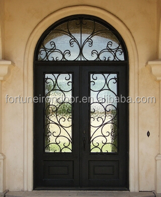 Restaurant Entrance Doors Entry Door With Glass Made In Xiamen