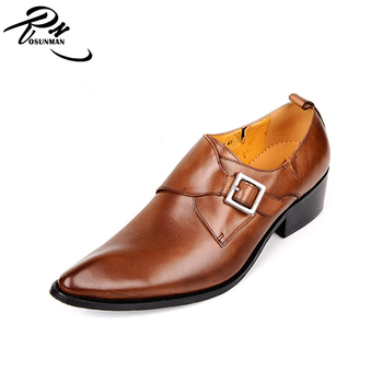 Moine Chaussures En Pointe Buy chaussures Homme Sangle Habillées Boucle Cuir Pointu Robe Bout Pointe Africain Cuir chaussures De LzUpSqMjVG