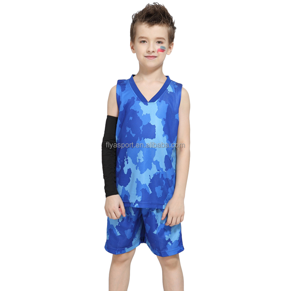 New Style Boys and Girls Einzigartiger Camouflage Basketball Uniform Jersey Design