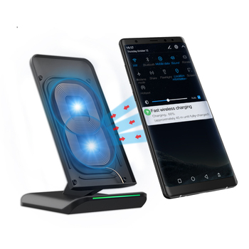 Free Shipping RAXFLY High Quality QI Wireless Charging Mobile Phone Charger 10W Fast Wireless Charger