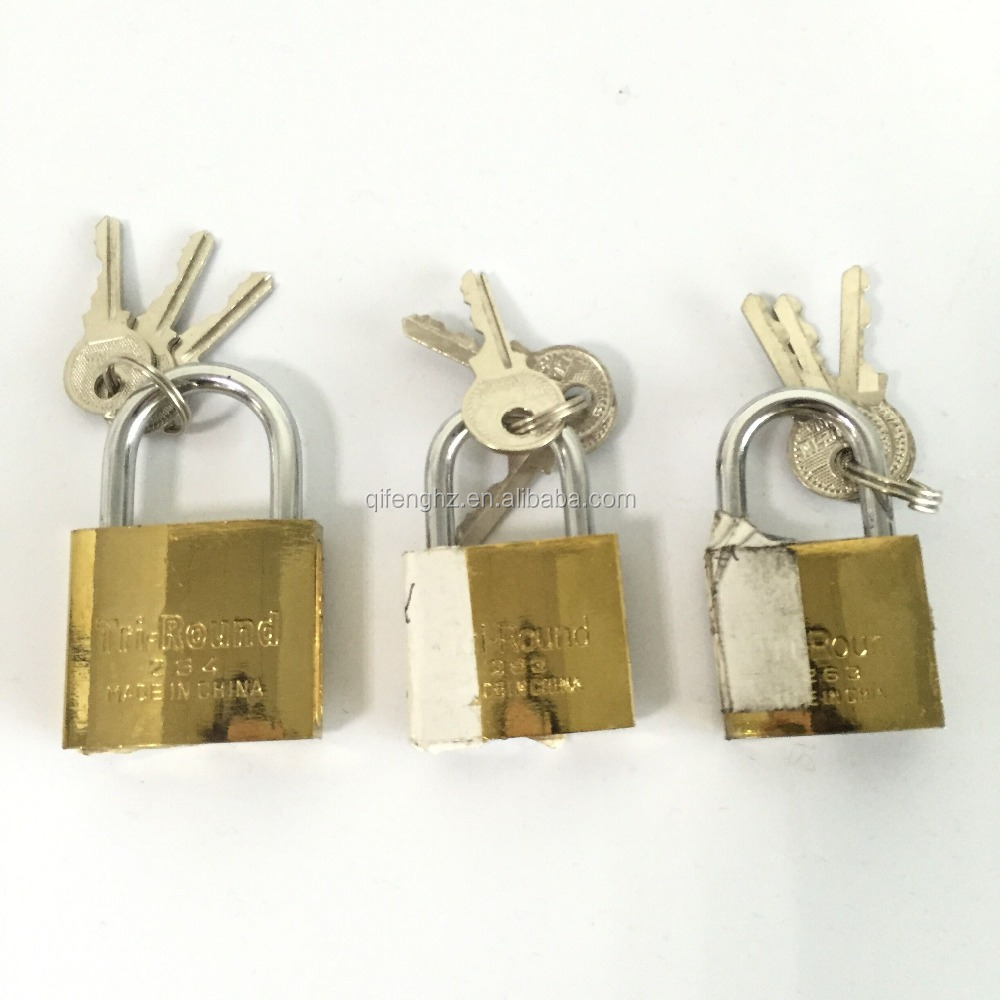 Brass pad lock Brass and iron 38MM 105g
