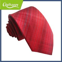Red color high end hot sale striped polyester necktie