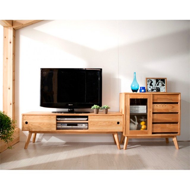 Tv kast eiken massief houten tv kast moderne industrie tv kast