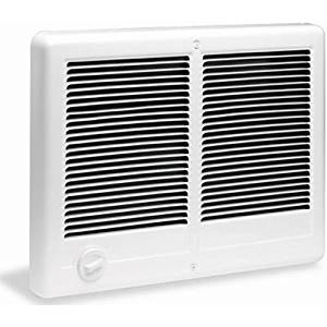 Cadet Com-Pak Twin 3000W, 240V Most Popular Large Room Electric Wall Heater with Thermostat, White