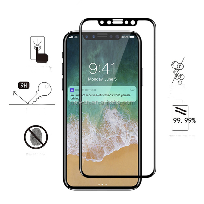 Mobile Phone Use Glass Tempered Screen Protector For Iphone X XR XS Max 5D Glass Protector