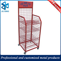 new style 4 tier basket stand metal wire mesh bread display shelf
