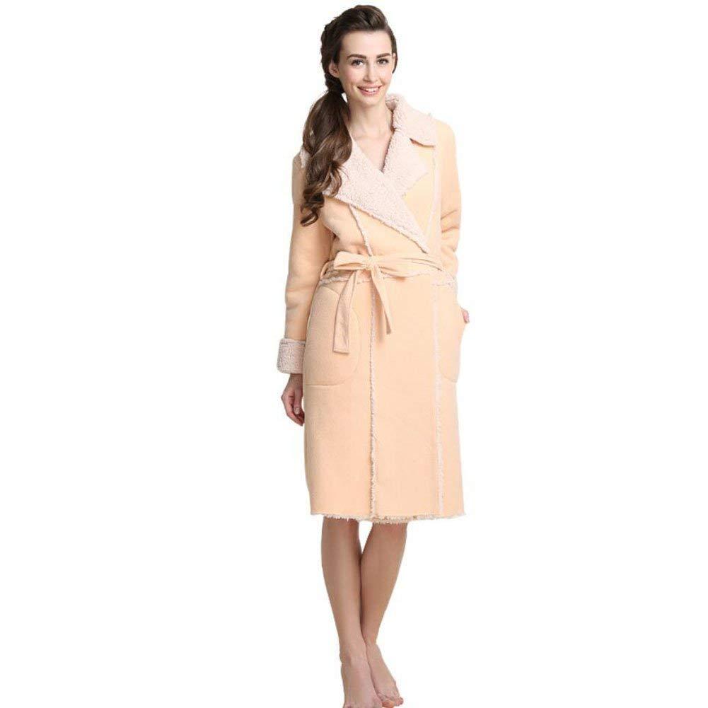 9ff7be422b Get Quotations · yan Bathrobe Ladies Bathrobe Deep Side Pockets bathrobe  and tie waist Bath Robe hotel spa Nightwear