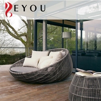 Rattan Woven Rattan Hotel Day Bed Ball Shaped Aluminum Bamboo Wicker Sun Lounger Used Outdoor Furniture