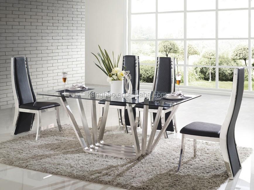 2016 muebles de vidrio kangbao superior base de acero - Bases para mesa de comedor ...